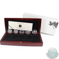 2012 Canada 1-cent Farewell to the Penny Fine Silver 5-Coin Set (outer sleeve is lightly worn). TAX