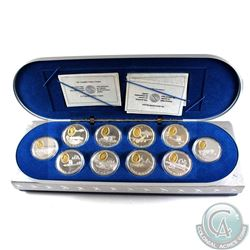 1990-1994 Canada Aviation One in Deluxe Display Case (coin capsules are lightly scratched & outer ca