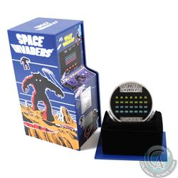 2018 Niue $2 40th Anniversary of Space Invaders Lenticular 1oz. Fine Silver Proof Coin (TAX Exempt)