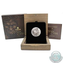 2016 Niue 2oz .999 Fine Silver Thor Norse Gods Fine Silver Antiqued Coin (TAX Exempt)