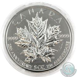 2013 Canada $50 25th Anniversary of the Silver Maple Leaf 5oz Fine Silver Coin (TAX EXEMPT). Coin co