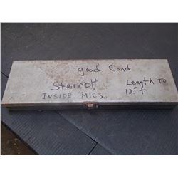 """Starrett 2-12"""" Range, Inside Micrometer"""