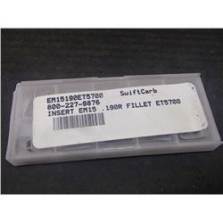 New, New Tech Carbide Inserts, P/N: EM15190ET5700