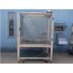 "Aluminum Frame Housing for Special Built Machine: 52"" x 65"" x 95"""