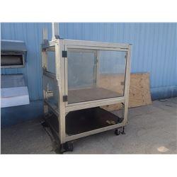 "Aluminum Frame Housing for Special Built Machine: 62"" x 51"" x 80"""