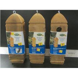 3 Scotts Woodpecker Suet bird feeder / holds 4 plugs each