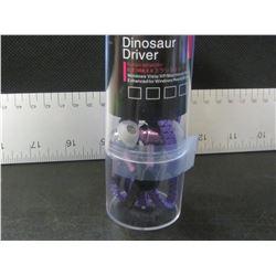 New Metal Dinosaur Driver Zippered Headphones / purple