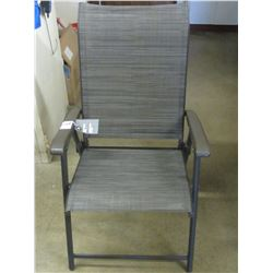 New Grey Sling Folding arm Chair