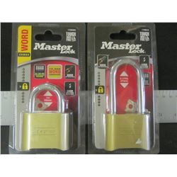 set of 2 New Master Locks