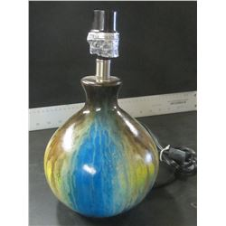 "Reactive Glaze Lamp / 16"" / no shade"