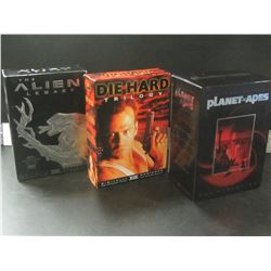 3 Complete Movie Box sets / Alien / Die Hard / Planet of the Apes