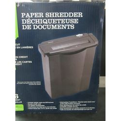 New Paper Shredder strip cut / 6 sheet / cuts credit cards