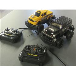 2 Remote Control trucks / Jeep & Ram / UNTESTED as is