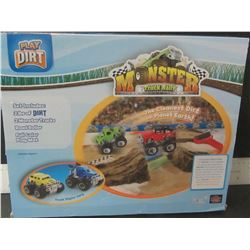 Monster Truck Rally / 2 trucks / dirt , sand / and roller / NO PLAY MAT