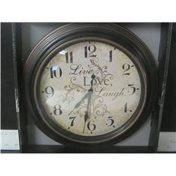 11.25 inch Live , Love , Laugh Clock