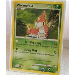POKEMON COLLECTOR CARD IN PROTECTIVE SLEEVE - WURMPLE LV.7 - 104/130