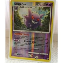 POKEMON COLLECTOR CARD IN PROTECTIVE SLEEVE - GENGAR LV.44 REVERSE HOLO - 16/99