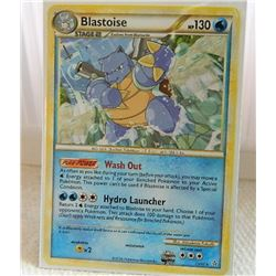 POKEMON COLLECTOR CARD IN PROTECTIVE SLEEVE - BLASTOISE STAGE 2 - 13/95