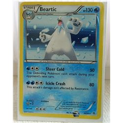 POKEMON COLLECTOR CARD IN PROTECTIVE SLEEVE - BEARTIC STAGE 1 HOLO - 30/98