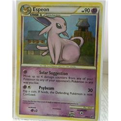 POKEMON COLLECTOR CARD IN PROTECTIVE SLEEVE - ESPEON STAGE 1 HOLO RARE - 2/90