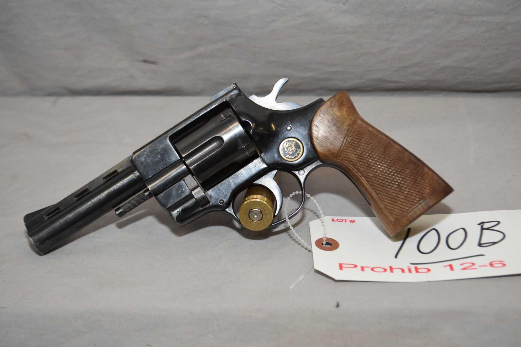 Arminius Model HW 38  38 Spec Cal 6 Shot Revolver w/ 102 mm vent rib