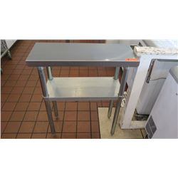 "Small Stainless Steel Utility Table w/Undershelf 30""L X 12""D X 35""H"