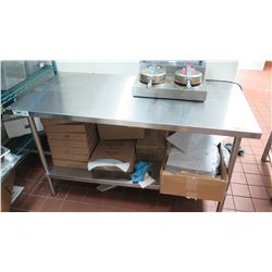 "Stainless Steel Utility Table w/Undershelf, 60"" X 30"" X 34"" H"