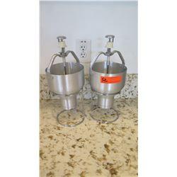 "Qty 2 Freestanding Dough Mix Dispensers w/Stands 15.5"" H"