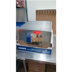 """Qty 20 New Aluminum Baking Sheet Pans, 18"""" x 13"""""""