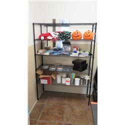 """5-Shelf Commercial Shelving Unit, Black 47""""W x 17.5""""D x 67.5""""H"""
