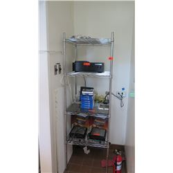 "NSF 4-Shelf Commercial Grade Wire Shelving Unit 24"" X 24"" X 75""H"