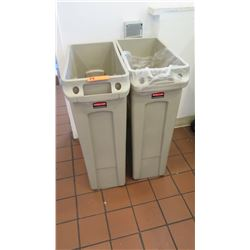 "Tall Rubbermaid Commercial Receptacles 20"" x 11"" x 30""H"