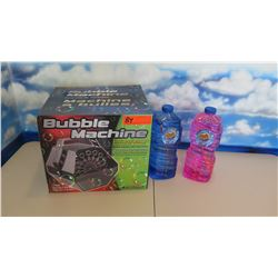 New Electronic Bubble Machine w/2 Bottles of Miracle Bubbles