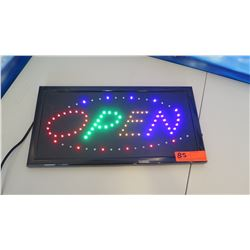 "Lght-Up Neon ""OPEN"" Sign"