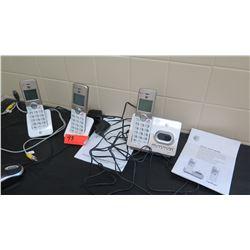 Qty 3 Digital Phones w/Charging Bases