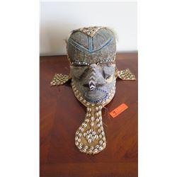 African Mask w/Shells