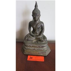 "Bronze Seated Buddha, Northern Thai, Circa 1900, 10"" H"