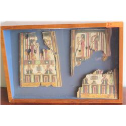 "Wooden Egyptian Side Panels from Canopic Chest, Circa 300 B.C.E, 11-13"" H, Ptolemaic Period (one pan"