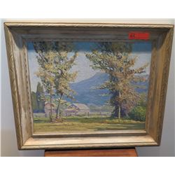 "Framed Original Impressionist Painting, Unsigned, 27"" x 23"""