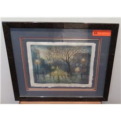 "Framed ""Twilight"", Avi Thaw, Ltd. Ed. 39 of 120, Original Signature, 1983, 14"" x 18"""