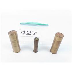 3 Brass Cartridges