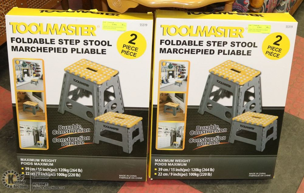 Amazing 2 New Tool Master Foldable Step Stools In Box Onthecornerstone Fun Painted Chair Ideas Images Onthecornerstoneorg