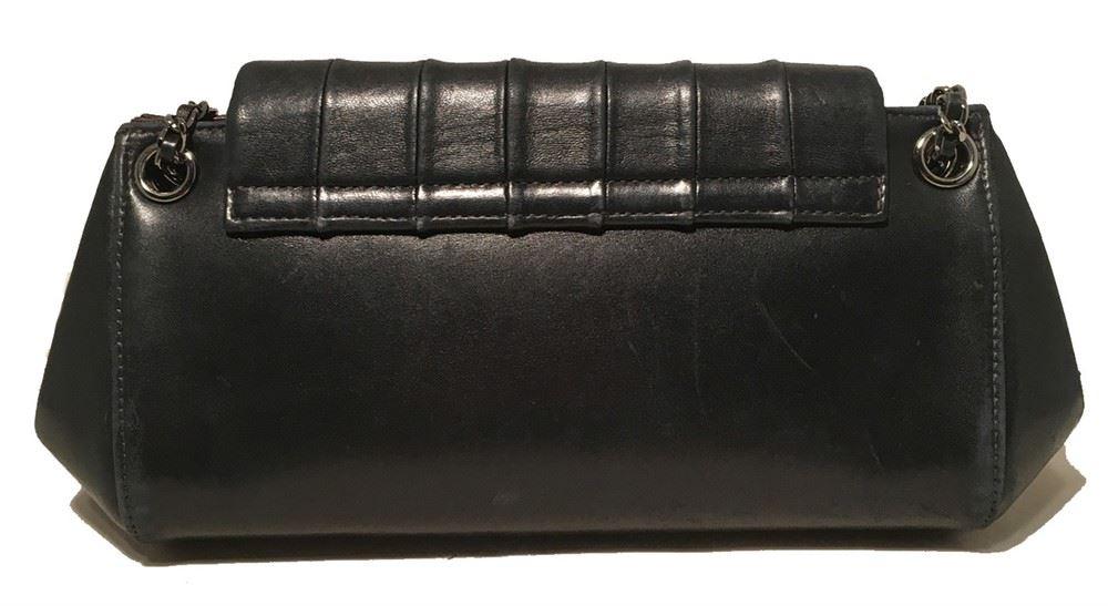 d4d5f09cb2c5 ... Image 2   Chanel Black Leather Pleated Top Flap Classic Shoulder Bag ...
