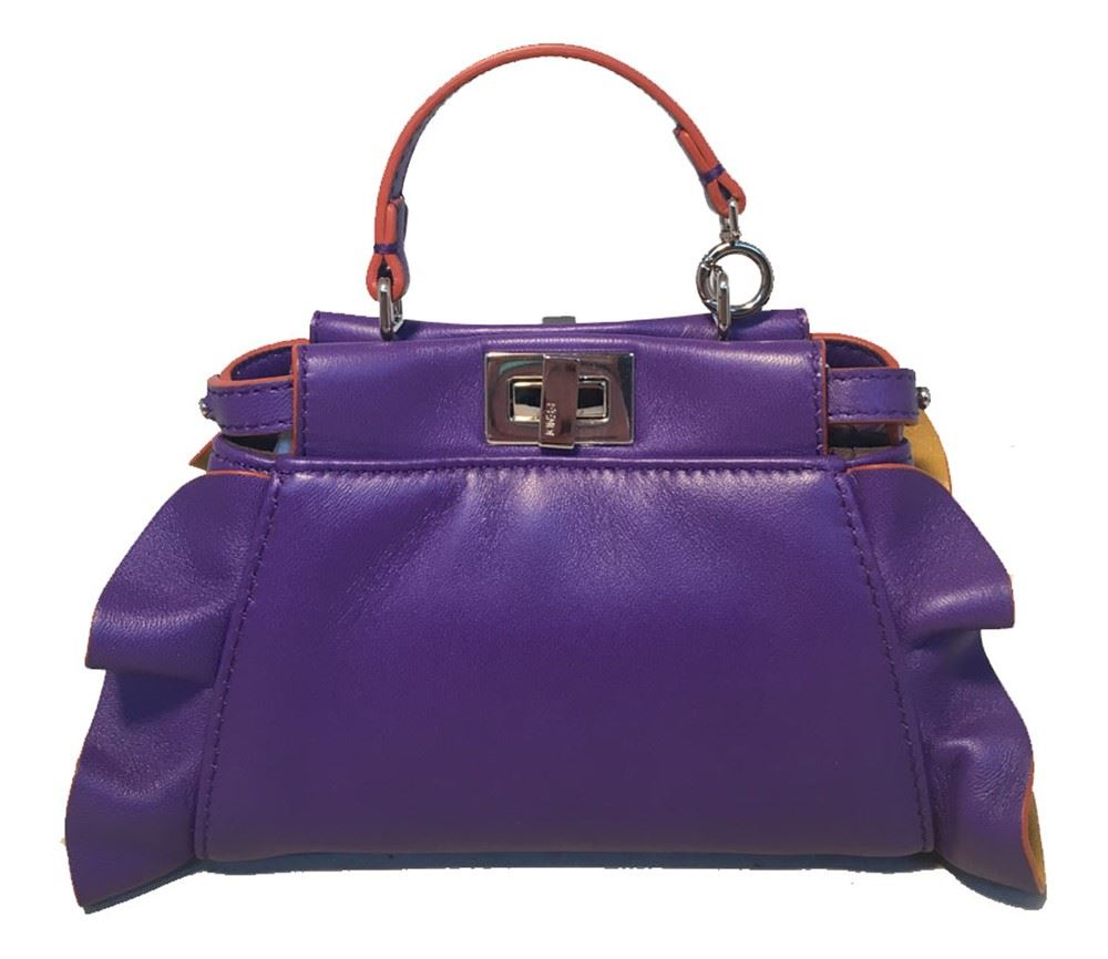 cd85411f3930 Image 1   Fendi Micro Mini Peekaboo Bag in Purple and Amber ...