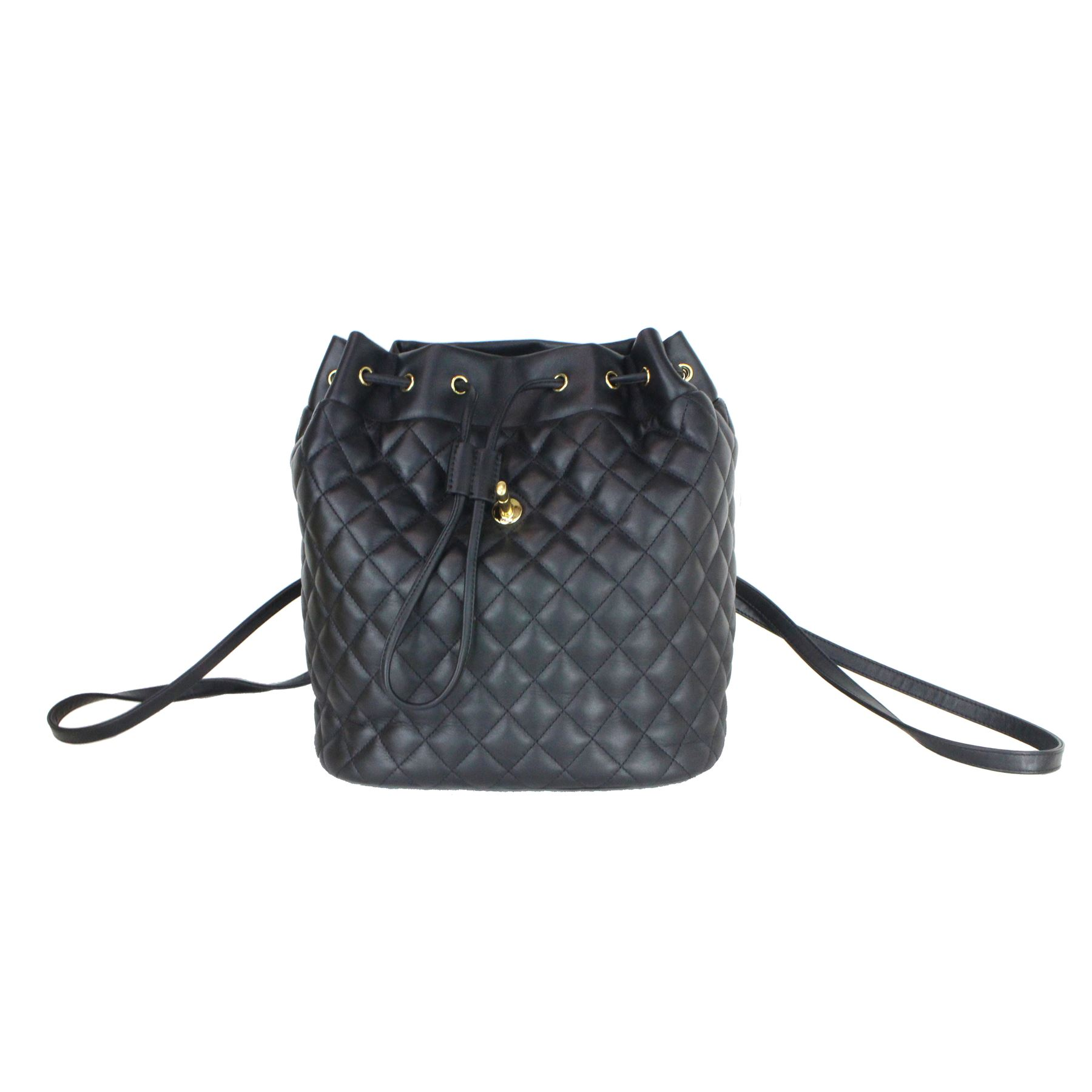 f1311e10561d ... Image 5 : CHANEL BACKPACK URBAN SPIRIT BLACK LAMBSKIN LEATHER BACKPACK  ...