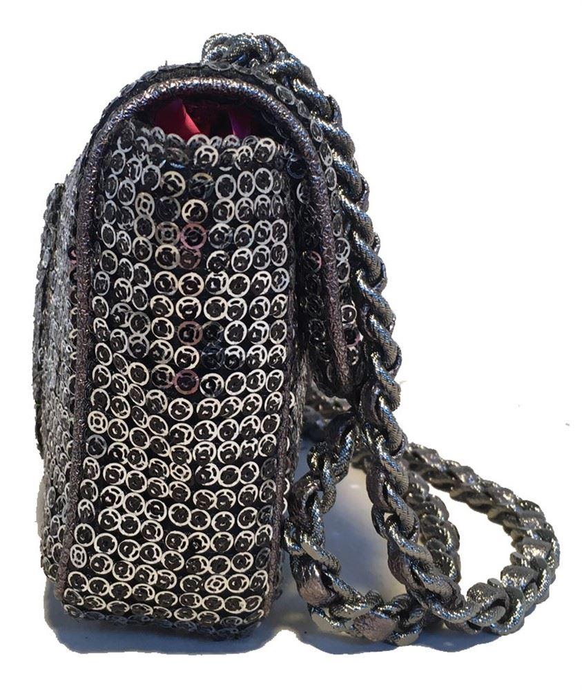 3a6a7dff781b ... Image 4 : Chanel Silver Paillette Sequin Classic Flap Shoulder Bag ...