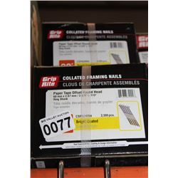 3 CASES OF 2-3/8 INCH FRAMING STRIP NAILS
