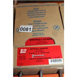 CASE OF 2 I/4 INCH DRYWALL SCREWS