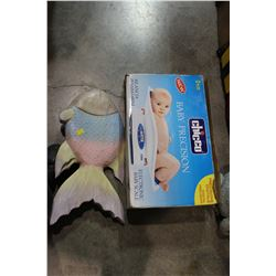 CHICCO BABY SCALE AND CARVED FISH
