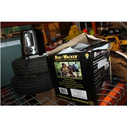 TRAILER TIRES BUG ZAPPER AND BLACK AND DECKER TOASTER